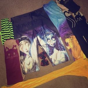 Assorted character tights and leggings